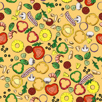 Seamless food ingredients pattern