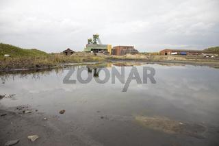 Gelände und Gebäude der stillgelegten Zeche Westfalen in Ahlen: Fördertürme