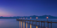 Dawn on famous lake Chiemsee, Bavaria, Germany