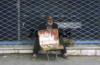 Zigarettenverkäufer, Qom, Iran