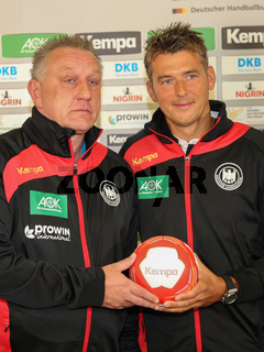 DHB-Bundestrainer Frauen Michael Biegler,DHB-Bundestrainer Männer Christian Prokop DHB Medientag