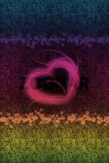Herz mit kleinen Schmetterlingen und Blumen