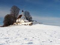 Loreto chapel near Wolfegg in Wintertime