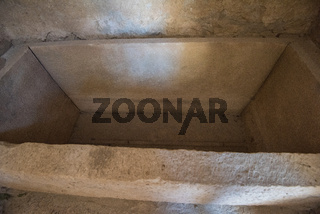 sarcophagus in St. Nicholas church in Demre, Turkey
