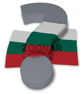 flagge von bulgarien und fragezeichen - 3d illustration
