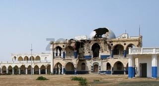 Ruins of former Haile Selassie residence