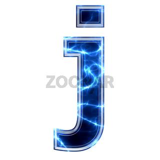 electric 3d letter