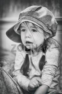 sad child, black-white, suffering
