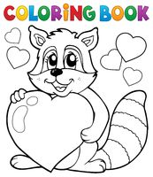 Coloring book Valentine topic 3