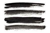 Black ink strokes