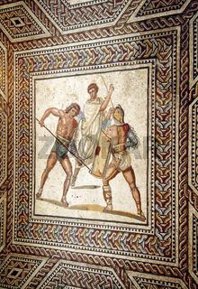Römisches Mosaik, Nennig, Saarland, Deutschland