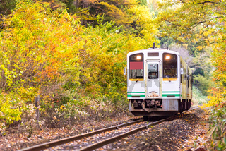 White train commuter Fukushima Japan