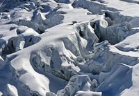 Crevasses of the Feegletscher glacier, Saas-Fee, Valais, Switzerland