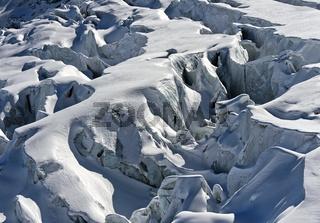 Gletscherspalten im Feegletscher