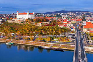 The castle and old town of Bratislava, Slovakia