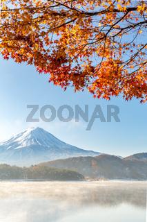Mt. Fuji in autumn Japan