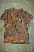 a rusty shirt on canvas art