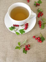 Herbal tea with hawthorn herbs