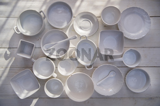 Series of small containers for the kitchen