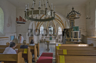 Spaetgotische Backsteinkirche in Gross Zicker, Moenchgut, Insel Ruegen, Late Gothic Brick Church, Island
