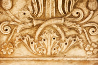 Column with floral pattern