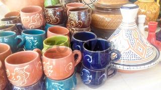 Moroccan pottery handicraft