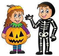 Halloween costumes theme image 1 - picture illustration.