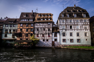Old Town Houses in Petite France District in Strassburg, Alsace