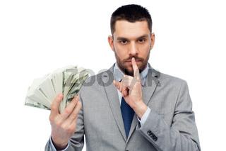 businessman with american dollar money