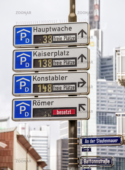 Car-park routing system in Frankfurt