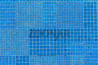 Blaue Mosaikfliesen