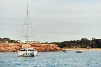 Cala Saona bay in Formentera. Balearic Islands. Spain
