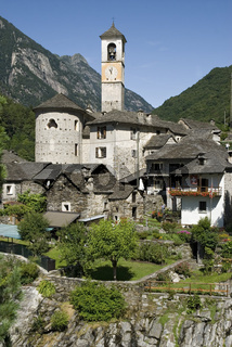 Pfarrkirche Madonna degli Angeli, Lavertezzo in Tessin, Schweiz