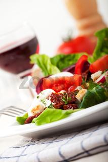 Detail aus frischen gemischten Salat