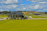 The Old Pavilion at the Old Course, golf course St Andrews Links, St Andrews, Scotland,Great Britain