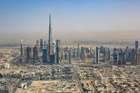 Dubai Skyline Burj Khalifa Hochhaus Luftaufnahme Luftbild