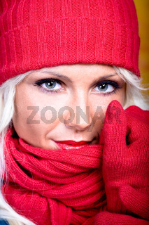 woman with wool scarf