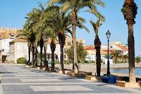 Promenade of Los Alcazares. Spain