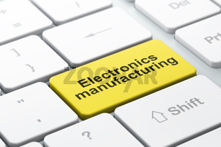 Industry concept: Electronics Manufacturing on computer keyboard background