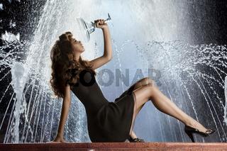 Girl on Fountain