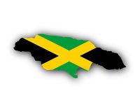 Karte und Fahne von Jamaika - Map and flag of Jamaica