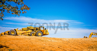 heavy duty construction hauleron site