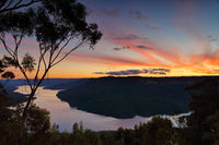 Breathtaking sunset views over Lake Burragorang, Australia