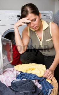 Frust beim Wäsche waschen