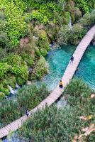 Plitvice lakes view