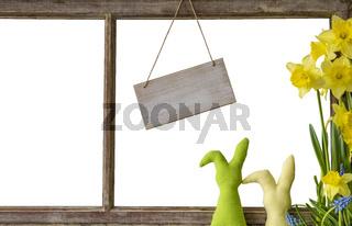 Window, White Background, Copy Space