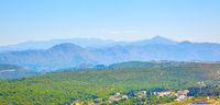 Countryside ang mountains near Dubrovnik