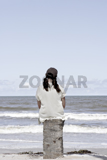 Junge Frau am Strand, Bahia, Brasilien, Südamerika