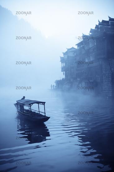 chinese phoenix town at dawn