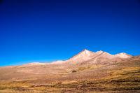 Dry and desolate landscape in bolivian Altiplano